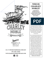 Charley Noble Menu