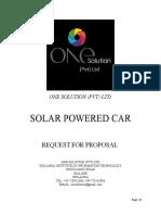 Rfp for Solar Powered Car