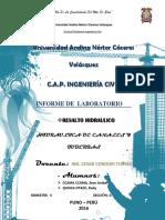 Informe-De-hidraulica (Resalto Hidraulico) Reenvio