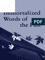 The Immortalized Words of the Past - Ralph M. Lewis