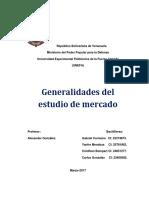 Generalidades de Estudio de Mercado