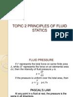 Topic 2 Principle of Fluid Statics