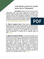 10 Consejos de Diseño a Tener en Cuenta en La Elaboración de Un Powerpoint