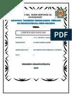 CERTIFICADO BANCARIO