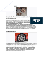 tipos de frenos de vehiculos