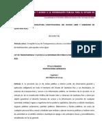Ley de Transparencia de Quintana Roo 2016