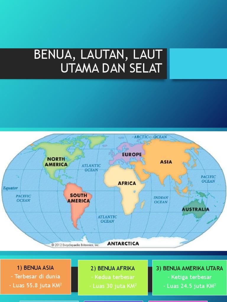 Benua Lautan Laut Utama Dan Selat