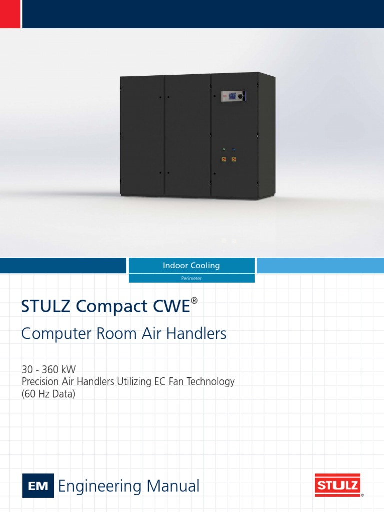 STULZ Compact CWE Engineering Manual CWE0029J | Horsepower | Air  Conditioning