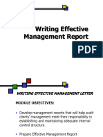 Writing Effective Management Report (Ver June 2011)