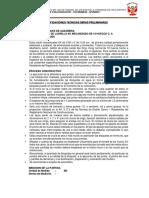 Especificaciones Tecnicas Chila