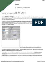 Liberar Un Modem USB ZTE MF110