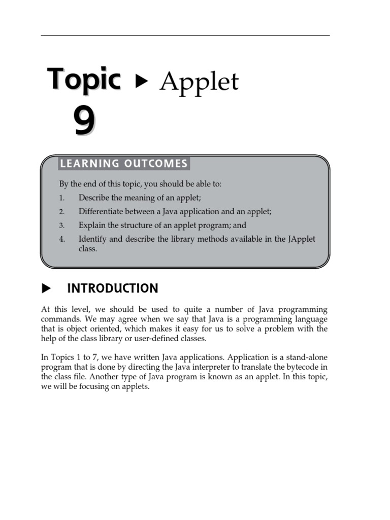 topic 9 applet