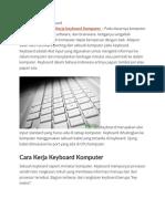 Cara Kerja Keyboard