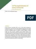 Indonesia and the Establishment of ASEAN Economic Community