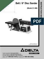 Delta 31-460 Manual