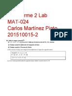 Preinforme 2 Carlos Martinez Pinto
