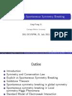Spontaneous Symmetry Breaking by Ling-Fong Li
