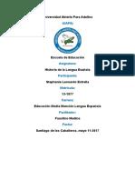 Tarea 2, Historia de La Lengua Española