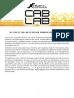 Cab Lab 3 Manual