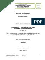 CORNARE Terminos Referencia EIA Centrales Hidroelectricas Generadoras