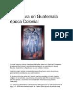 La Pintura en Guatemala Época Colonial