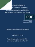 Teresita Chubretovic - Institucionalidad e instrumentos de fomento para la protección y difusión del patrimonio natural y cultural.