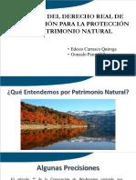 Carrasco y Parot - Alcance del derecho real de conservación para la protección y difusión del patrimonio natural y cultural