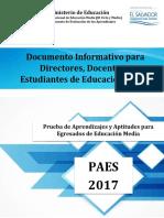Documento Informativo Paes 2017