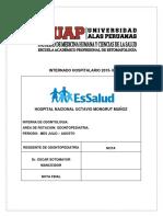 INTERNADO HOSPITALARIO 2015