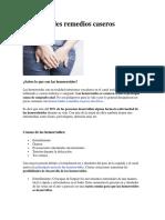 Hemorroides Remedios Caseros Efectivos