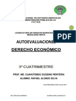 Autoevaluaciones Derecho Economico