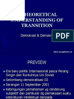 A Theoretical Understanding of Transition