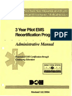 2004 NYS BEMS 3 Year Pilot Recert. Manual