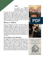 5 Obras Literatura, Musica, Etc