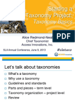 Starting a Taxonomy Project