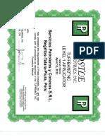 5.- Certificado de Operacion en Hardbanding