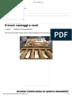 Il Trust_ Vantaggi e Costi