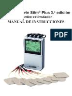Manual de usuario en español Twin Stim Plus 3ra edición