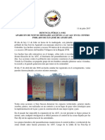 APARECEN DE NUEVOS MENSAJES ALUSIVOS A LAS AGC EN EL CENTRO POBLADO DE SAN JOSÉ DE APARTADÓ.
