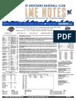 7.11.17 at JAX Game Notes