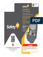 User Guide - Safety 1st Grow and Go 3-In-1 Convertible Car Seat - Item No CC138