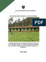 mejoramiento Servicios Educativos de Cochorco Provincia de Sanchez Carrion
