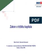 2B. Zakon o Tržištu Kapitala ERSTE