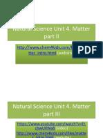 NSc U4 Matter