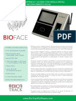 Bt-bface Espanol Brochure