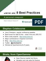 Java SE 8 Best Practices