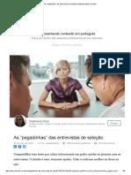 """As """"Pegadinhas"""" Das Entrevistas de Seleção _ Raphaela Mael _ LinkedIn"""