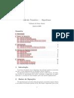 Cálculo Numérico - algoritmos