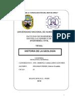 Historia de La Geologia en El Peru