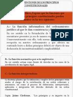 LAS FUNCIONES DE LOS PRINCIPIOS CONSTITUCIONALES